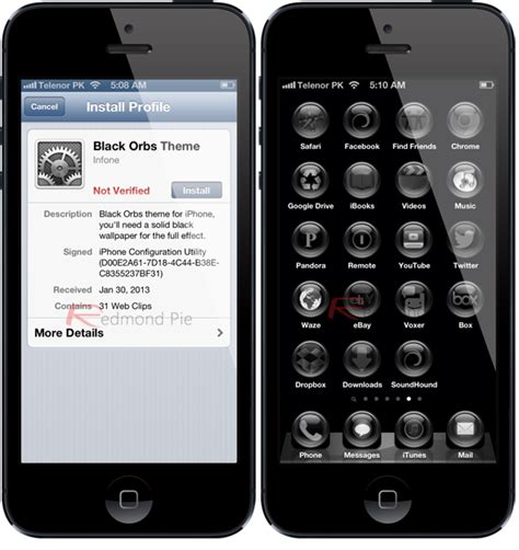 black jailbreak themes top tweaks for iphone and ipad that don t require a