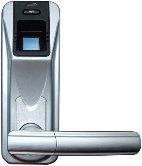 fast secure sleek fingerprint scanning door handle lock