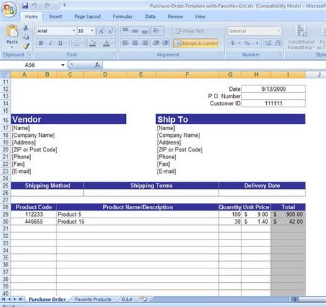 purchase list template harry potter the deathly exle of purchase order form