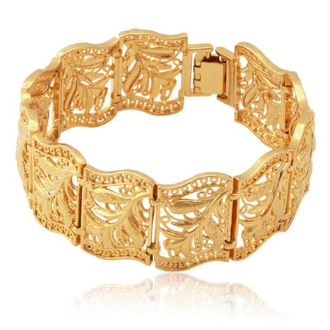 Accessories Gold Bracelet gold bracelet for fashion jewelry wholesale 18k gold plated vintage bangle scroll