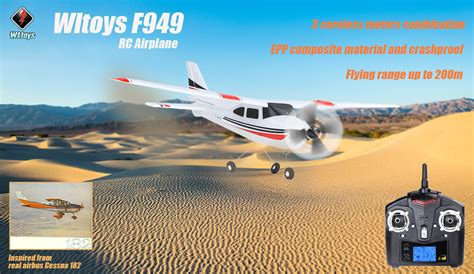 Rc Plane Cessna182 Wltoys F949 wltoys f949 cessna 182 sky king 2 4g radio 3ch rc airplane fixed wing plane vs wltoys