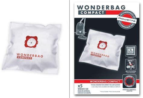 wonderbag compact x 5 pour aspirateur rowenta miss pieces