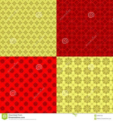 new year pattern free set of new year seamless pattern stock