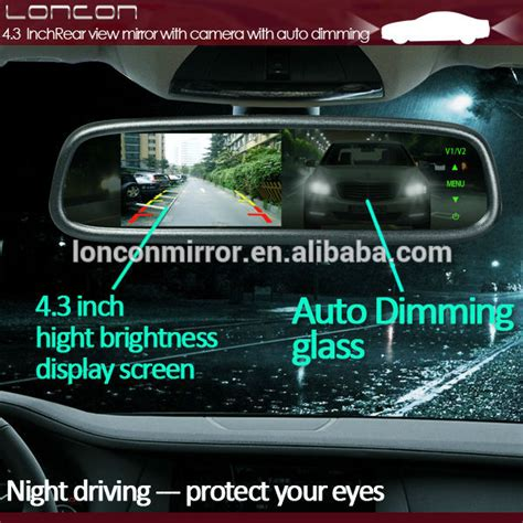 Kamera Spion Mobil Cermin Rear View Mirror Hd 720p 4 3 inch monitor auto dimming kaca spion kamera mundur oem