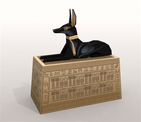 Papercraft Boxes - ancient anubis box papercraft papercraft paradise