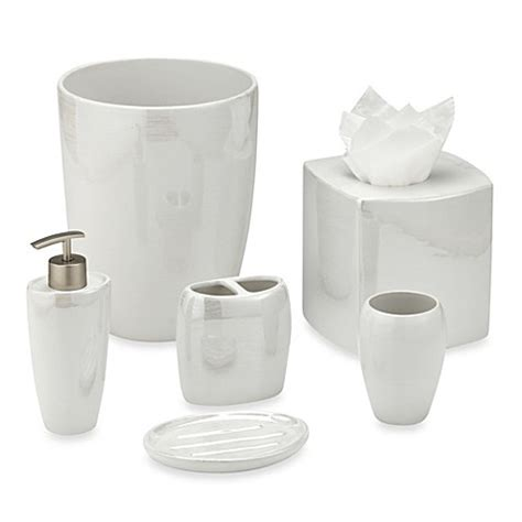 white bathroom accessories ceramic akoya pearlized ceramic bathroom accessories in white