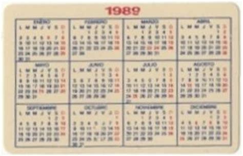 Calendario De 1989 Calendario De Bolsillo La Casera Espa 241 A Col Esp 1989