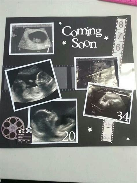 baby book for ultrasound pictures best 25 ultrasound scrapbook ideas on