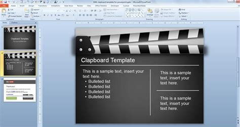 movie presentation templates free clapboard powerpoint