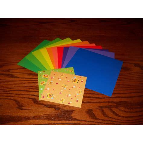 Bulk Origami Paper - origami paper print and plain 100 mm 20 sheets bulk