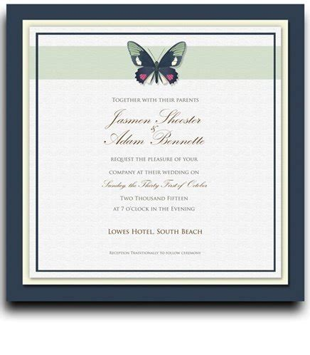 cheap 135 square wedding invitations butterfly moss spice buy discount lzfm
