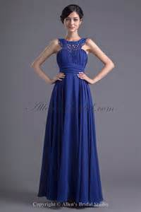 allens bridal chiffon neckline a line floor length