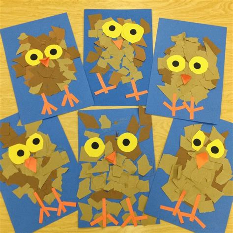 owl pattern for kindergarten 135 best fall crafts for toddlers images on pinterest