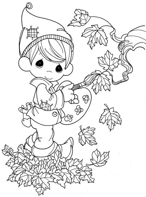 fall coloring page precious moments pinterest