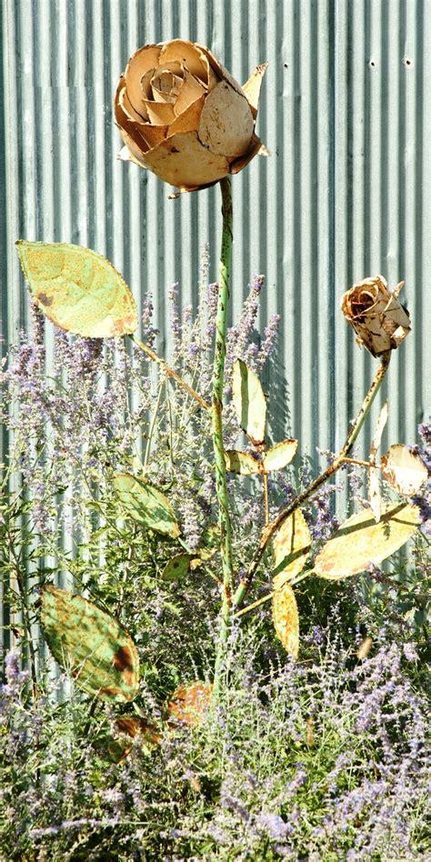 metal garden stakes yard tin yard stake 74 quot metal garden flower