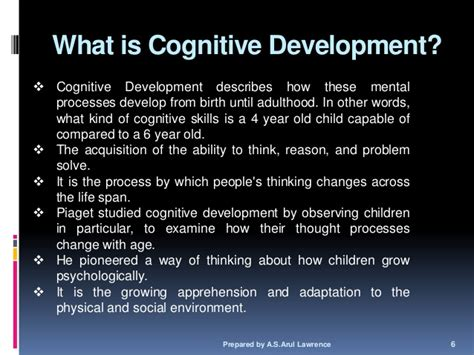 cognitive biography definition piaget s cognitive development
