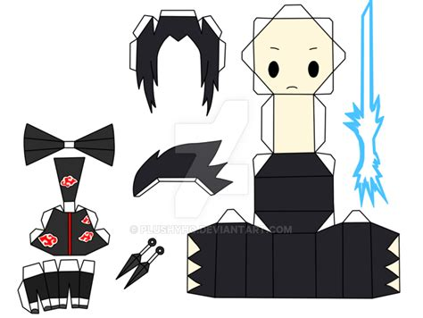 Sasuke Papercraft - sasuke paper chibi by plushyhq on deviantart