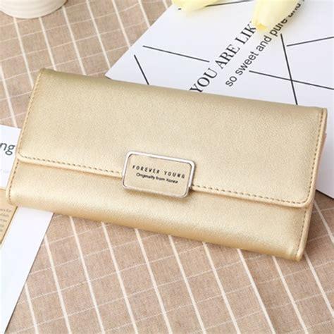 Dompet Panjang Cantik jual bd107 gold dompet panjang wanita cantik grosirimpor