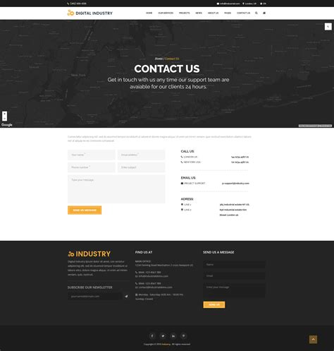 themeforest contact digital industry industrial business psd template by