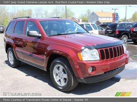 2007 Jeep Grand 4x4 Laredo Rock Pearl 2007 Jeep Grand Laredo 4x4 Medium Slate Gray Interior