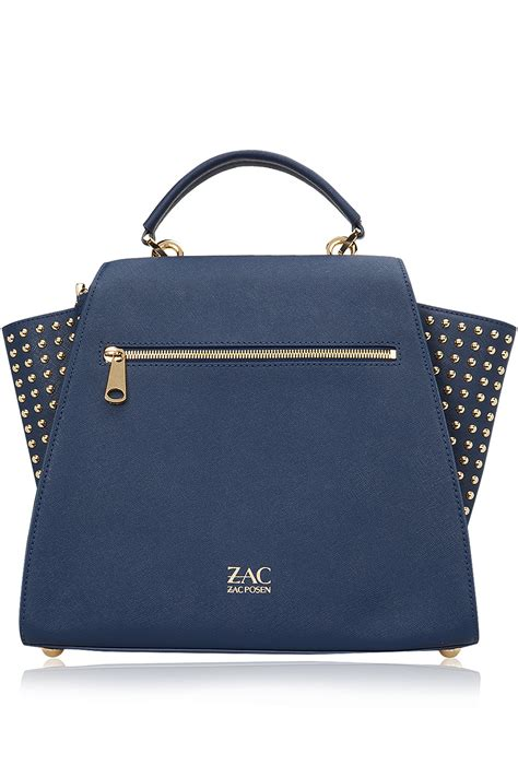 Zac Posen Shoulder Bag by Zac Zac Posen Eartha Top Handle Shoulder Bag Blue