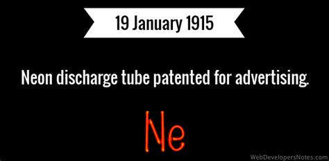 neon discharge patented for advertising