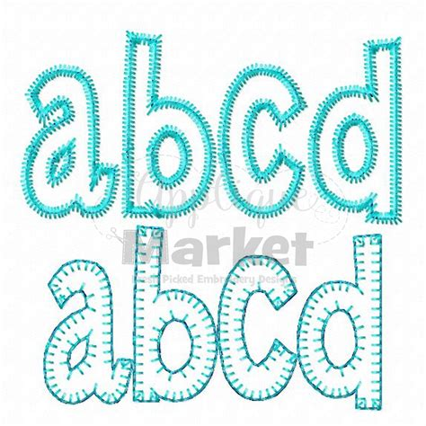 Embroidery Applique Design by Henry Applique Alphabet Applique Design