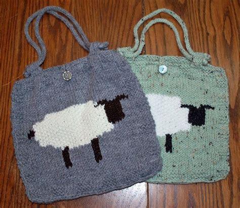 knitting intarsia intarsia sheep bag by ravenswoodknit craftsy