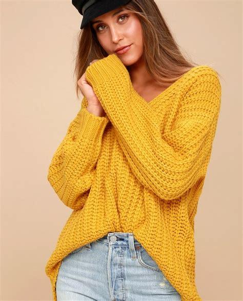 knit me knitted sweater mustard yellow sweatshirt price 59 00