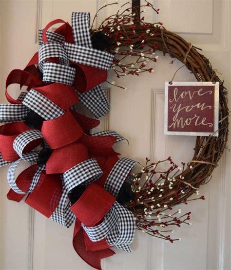 red  black valentine grapevine wreath rose wreath