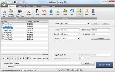audio format converter software free download avs4you gt gt avs audio converter gt gt converting to ogg format