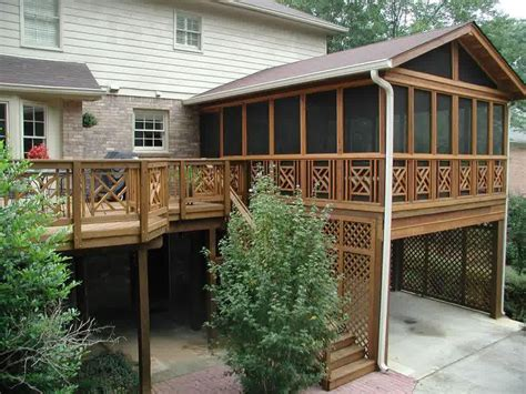 Wooden Covered Deck Designs Doherty House Build A Deck Patio Design Pictures