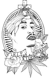 2pac Outline by Tupac Shakur By D Westbury On Deviantart