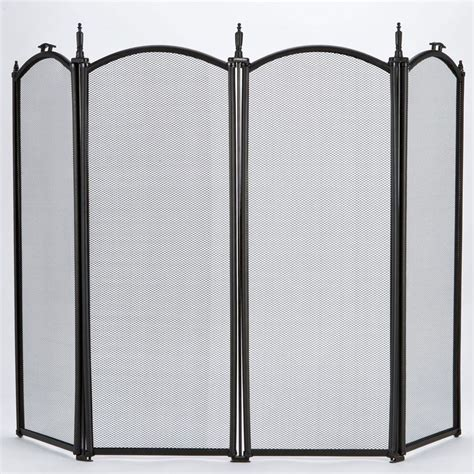 Fireplace Spark Screen by Black Guard Freestanding Panel Fireplace Safety Spark