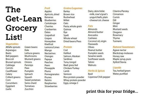 get lean foods health