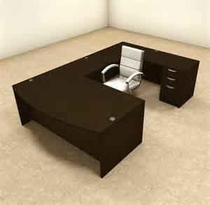 Office U Shaped Desk 4pc U Shaped Modern Executive Office Desk Ot Sul U4 Ebay