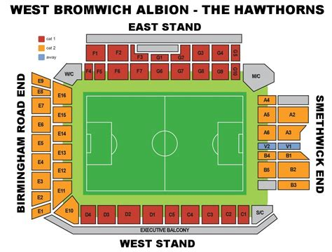 the hawthorns seating plan west bromich albion f c football club of the barclay s