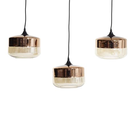 Tea Glass Pendant Light Set Of 3 Short Dwell Pendant Set Lighting