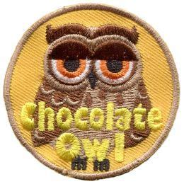 Set Owl Chocolates chocolate owl set leader who hoot patch embroidered