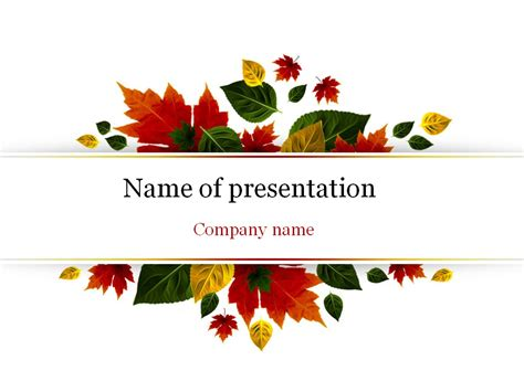 Autumn Powerpoint Template Background For Presentation Fall Powerpoint Templates