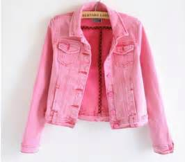 womens colored free shipping denim jacket 2015 new