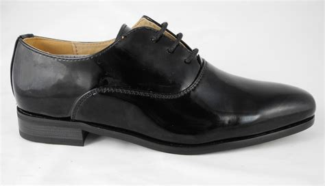 boys formal dress wedding shoes leather lined black patent