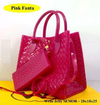 Dompet Murah Impor Royale Jelly Pink Fanta tas webe jelly semi original toko brand