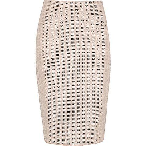 light pink pencil skirt light pink sparkly pencil skirt midi skirts skirts