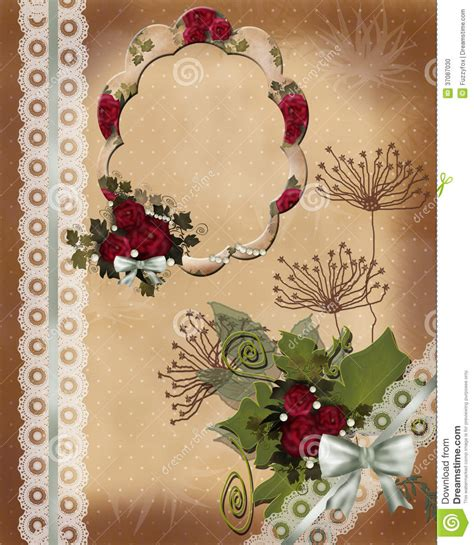 Invitation Letter Background Images invitation vintage card letter with roses and frame stock photo image 37087030