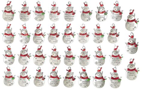 ganz christmas snow pals snowman bird ornament with