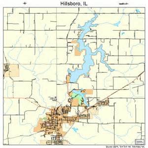 hillsboro illinois map 1735047