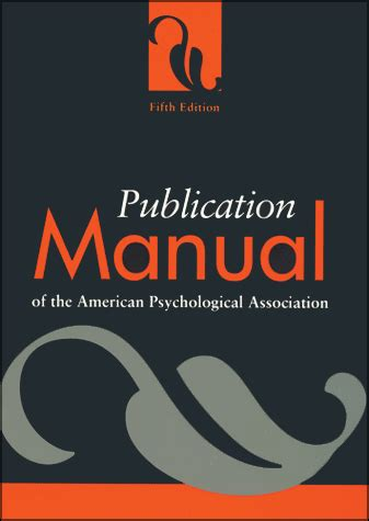 lectures on the psychology of fifth edition books publication manual of the american psychological