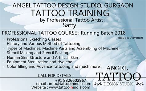 tattoo training courses design studio best permanent