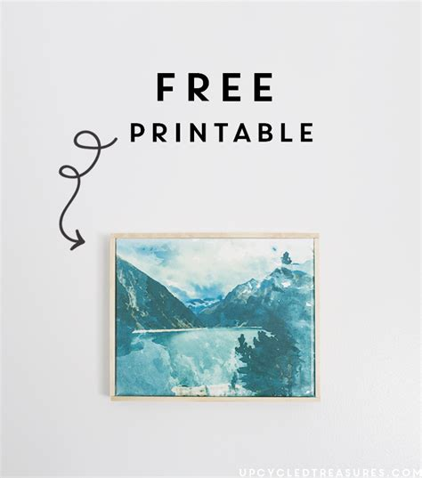 free printable wall art watercolor how to frame plywood wall art mountain modern life